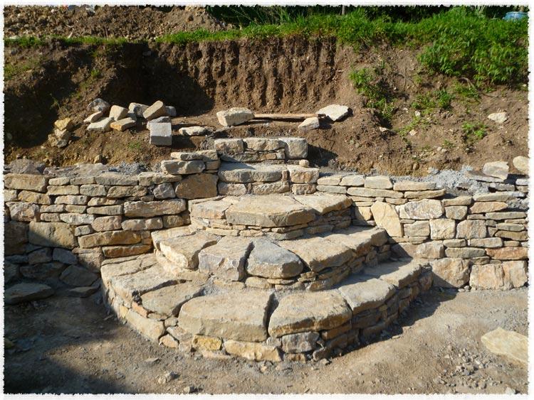 Escalier exterieur en pierre les derni res for Construire un escalier en pierre seche