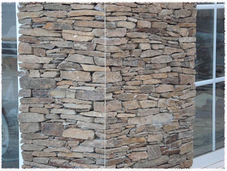 Construction murs et murets en pierre provence var - Habillage poteau portail ...
