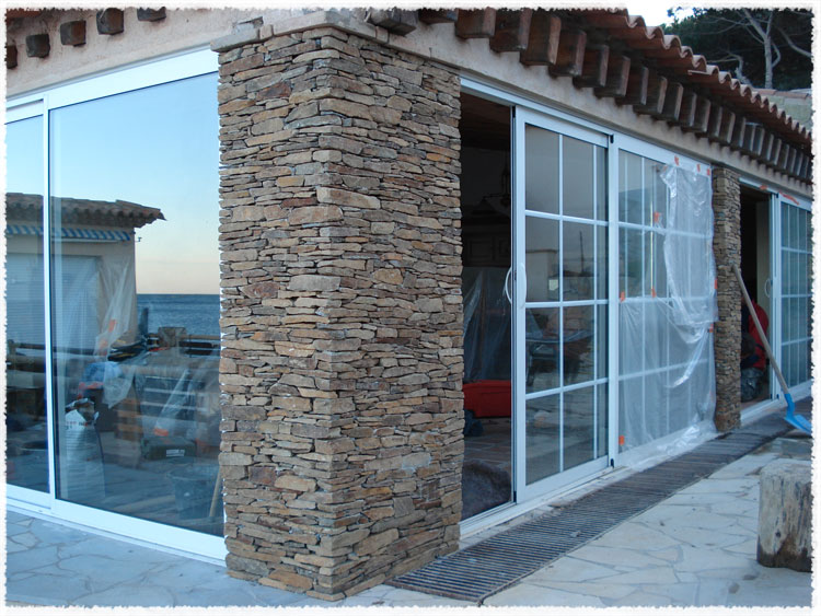 construction murs et murets en pierre provence var. Black Bedroom Furniture Sets. Home Design Ideas